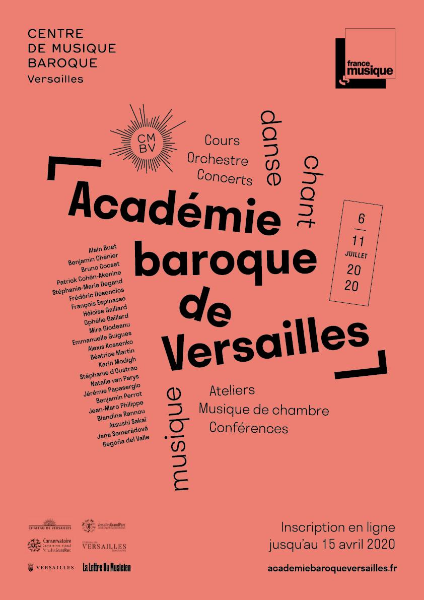Académie baroque de Versailles/6-11 juillet 2020 Reportée